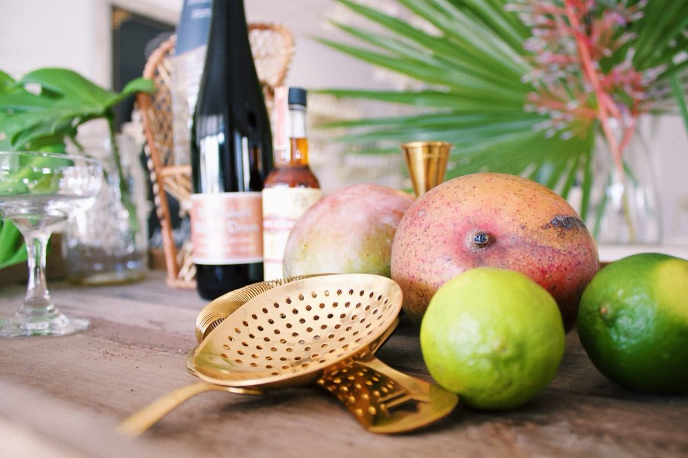 Fresh local Bahamian mangoes steal the show.
