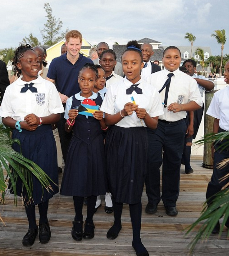 Prince Harry Visits Harbour Island. Photo: Splash News