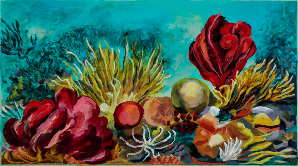 """""""Souvenir"""", oil on canvas 140 x 250cm"""