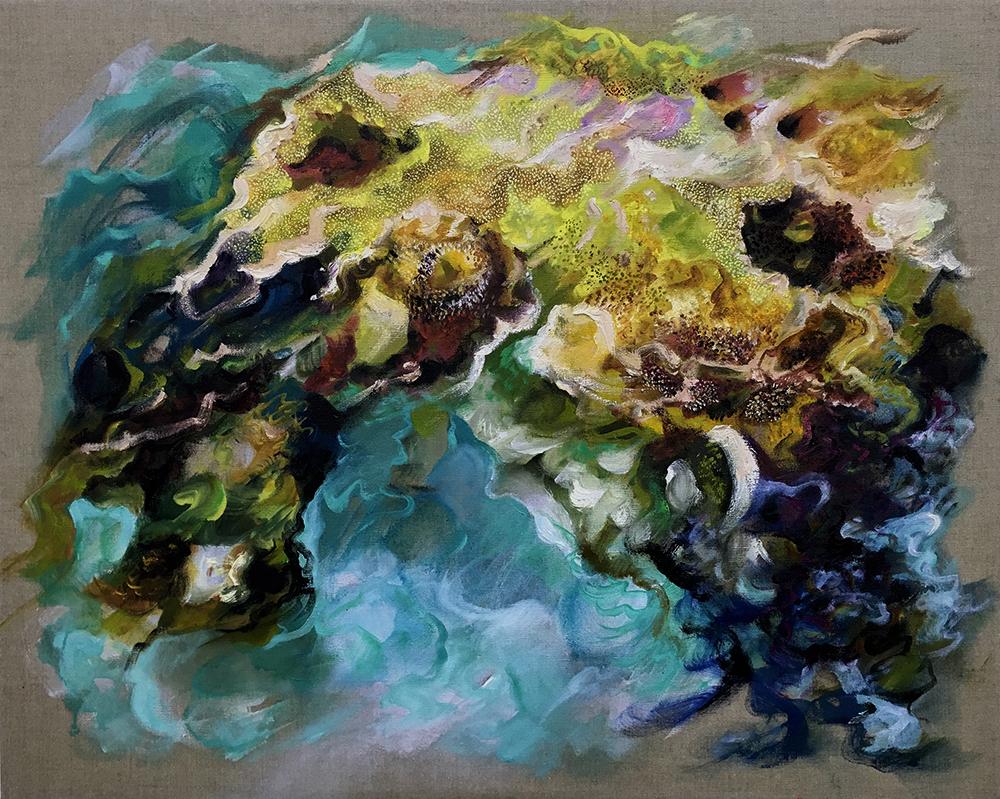 """""""Aubade"""", oil on linen 72 x 90cm"""