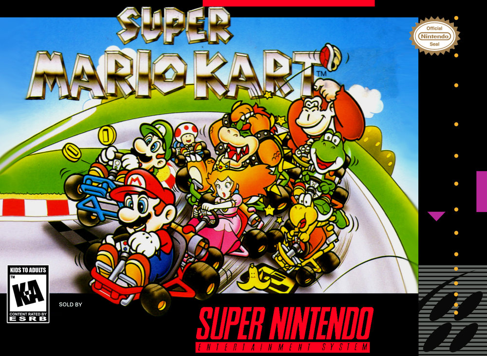 Super Mario Kart Cartridge Box.   August 1992