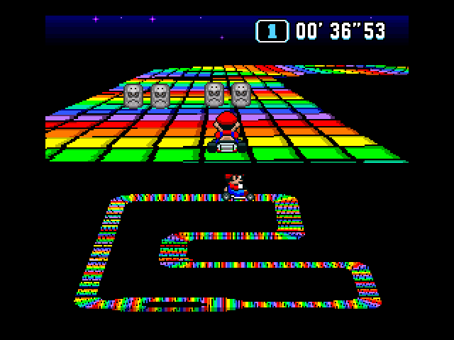 Rainbow Road is perhaps, one of the most iconic tracks in all of Mario Kart.