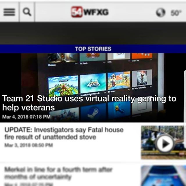 We were interviewed by @wfxgfox54 @foxnews because of our interest in rehabilitation software for quadriplegics and paraplegics VA and the Spinal Cord Injury Center. And look at that, we are the top story! Still are this morning! This is too cool. I am really proud of the work that my brother @team21dev and I have been putting in. - - - #oculus #oculusrift #gameart #gameart #pc #game #gamedev #indiedev #indiegame #indie #dark #dungeonsanddragons #monster #news #horror #vr #vrgame #vrgamedev #fox#FatFoods #art #LairoftheTitans