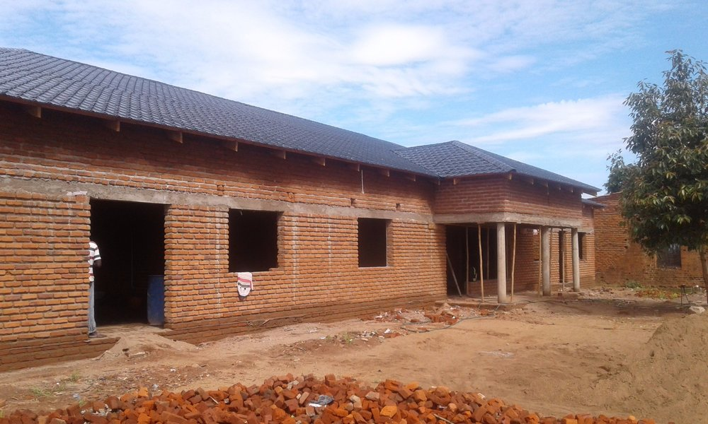 The new centre at Songani is taking shape and will be finished for the opening ceremony on April 13th 2019.