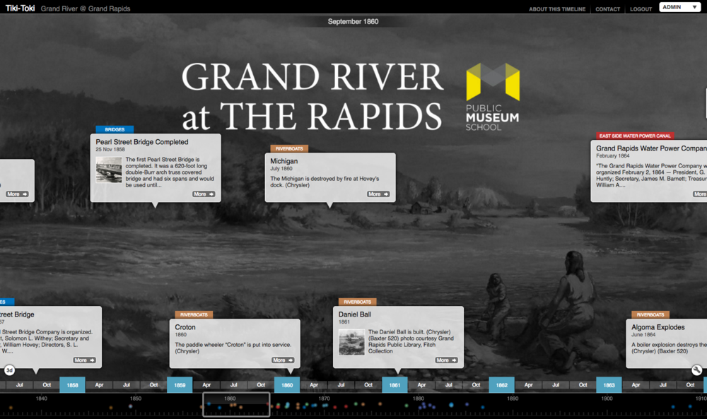 Grand River at The Rapids Timeline Project. Explore the history of the rapids.