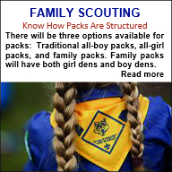 Download a family scouting brochure here to share with your unit committee and Chartered Organization.