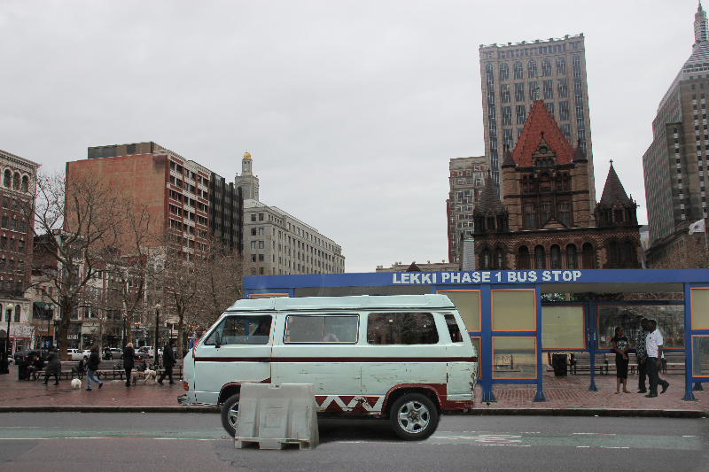 Lekki Phase 1 Bus Stop In Boston.