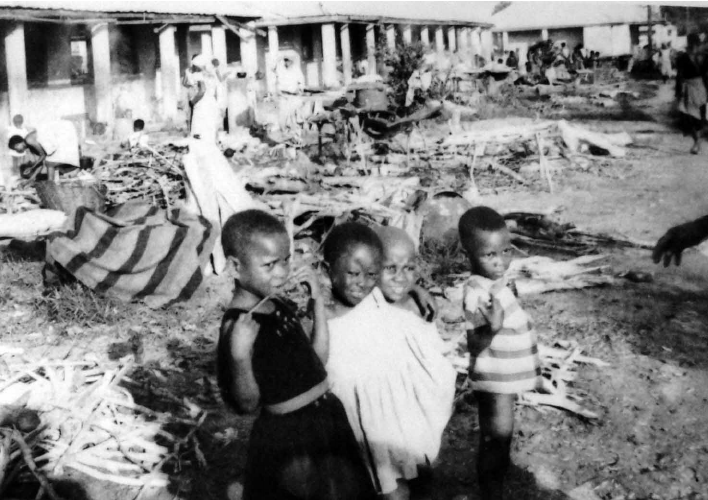 Refugee Camp At St. Patrick's College, Asaba, 1968.
