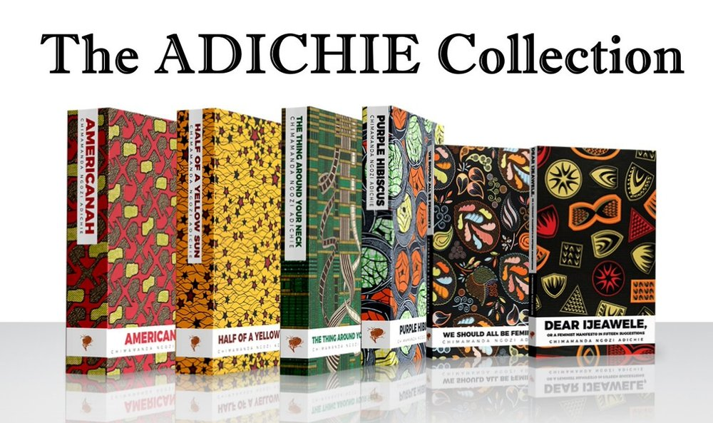 WIN theAdichie collection! - Purple HibiscusHalf Of A Yellow SunThe Thing Around Your NeckAmericanahWe Should All Be FeministsDear Ijeawele