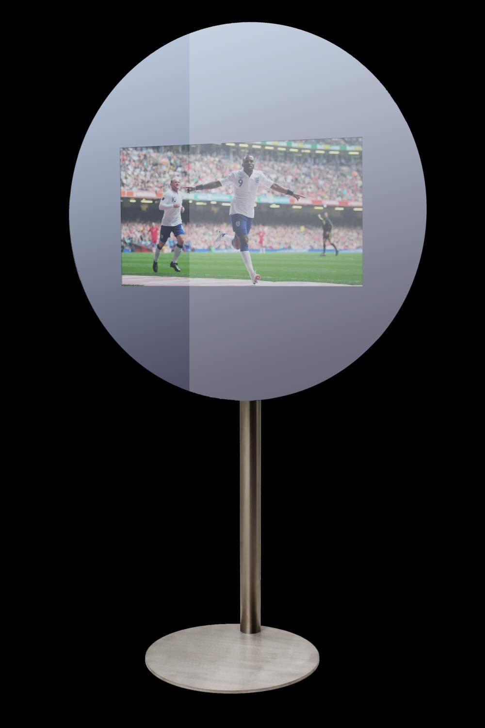 THE SILVER BLACK ROUND MIRROR TV ON.jpg