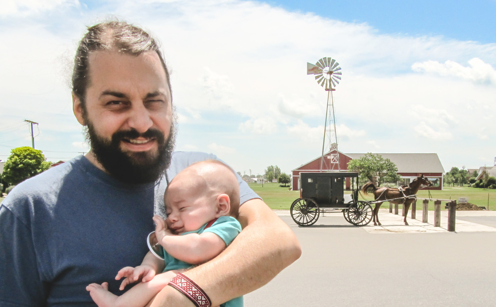 Josh introduces Asher to some of his Anabaptist roots at Yoder Department Store in Shipshewana -- the heart of Indiana's Amish country. We also grabbed some sweet corn seeds for the garden at the church in Barcelona.