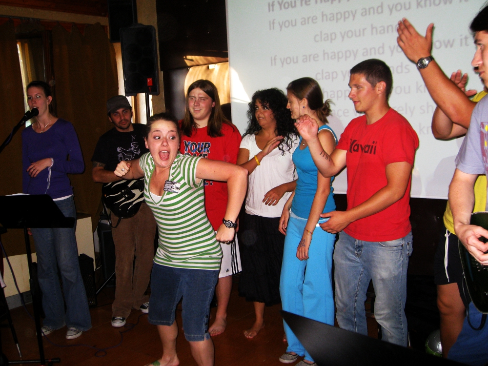 Alisha gets the campers fired up. If you are surprised, you do not know Alisha.