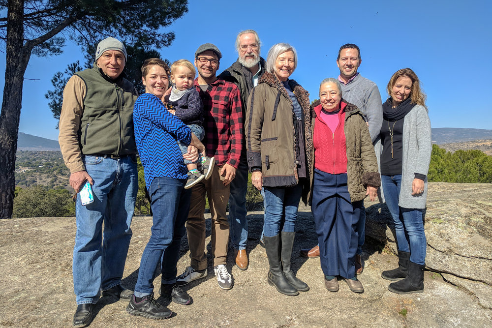 Pictured here are Mennonite Mission Network's Spanish workers during the regional gathering of Anabaptist church leaders in February: (from left) Francisco Machado (Madrid), Alisha, Asher, & Joshua Garber (Barcelona), Dennis and Connie Byler (Burgos), Juana Machado (Madrid), Brian & Noelia Fox (Burgos). In terms of global missions, European workers are certainly underdogs. Organized religion is generally viewed as being a societal relic and yet so many churches seem to continue doing things the way they always have.