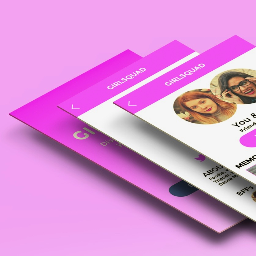 GIRLSQUAD // End-to-end UX design project