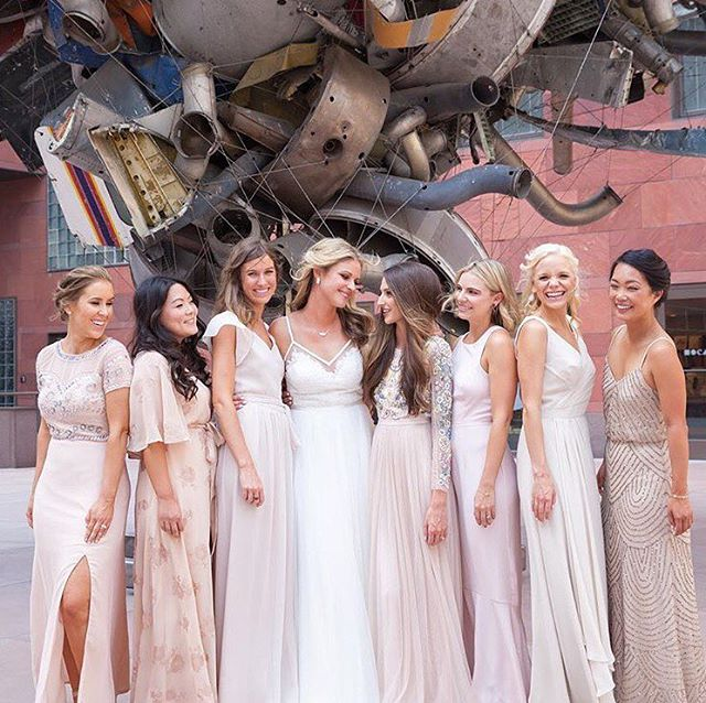 A look back at my beautiful sister's wedding day with all her incredible lady friends. I will always be a fan of mismatched bridesmaid dresses, always. . Image: @shutterstylesphoto