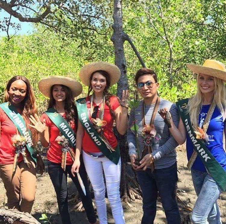 Mangrove Planting in Kalibo for Miss Earth
