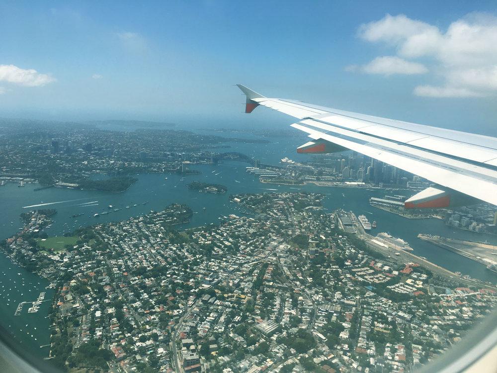 Flying over Sydney Harbour Bridge &Sydney Opera House