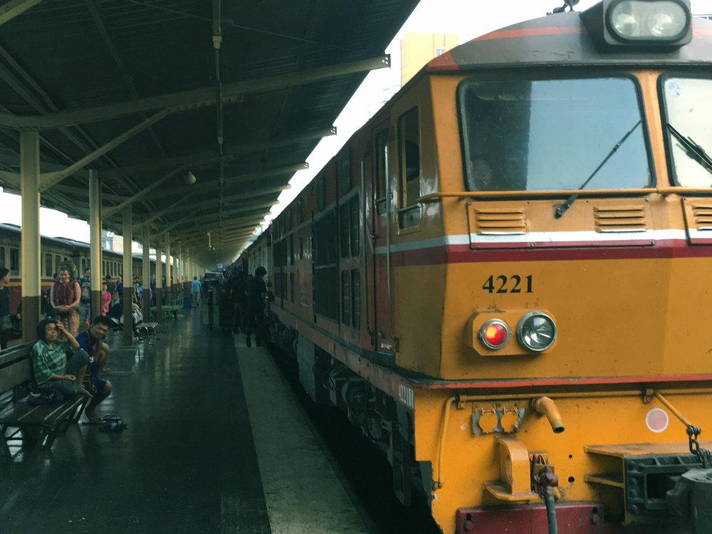 Catch the overnight sleeper train to Bangkok