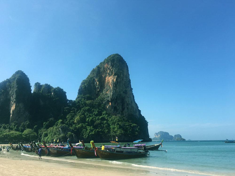 Railay Beach by boat from Ao Nang