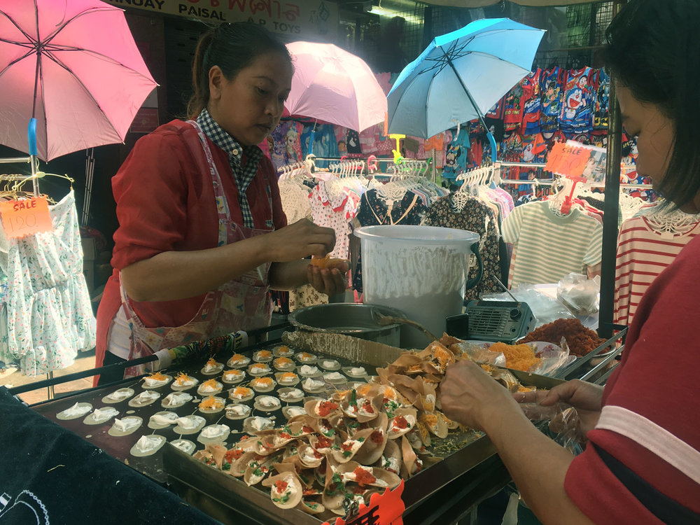 Khanom Buang Street Food (Thai Sweet Mini Crepes)