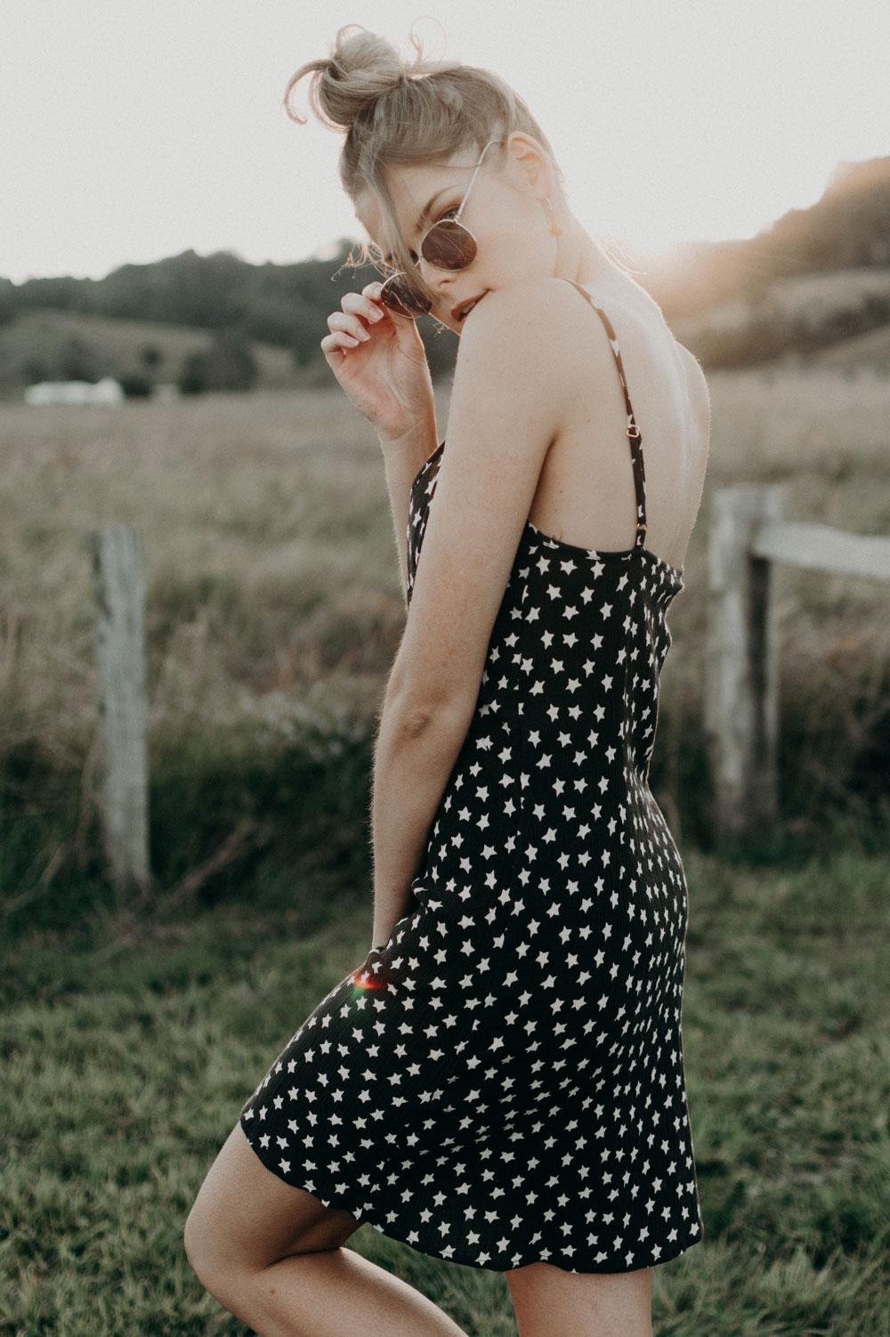 Auguste the Label Star Dress / Taiga Rose Jewels / Sportsgirl Sunnies