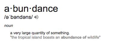 abundance definition