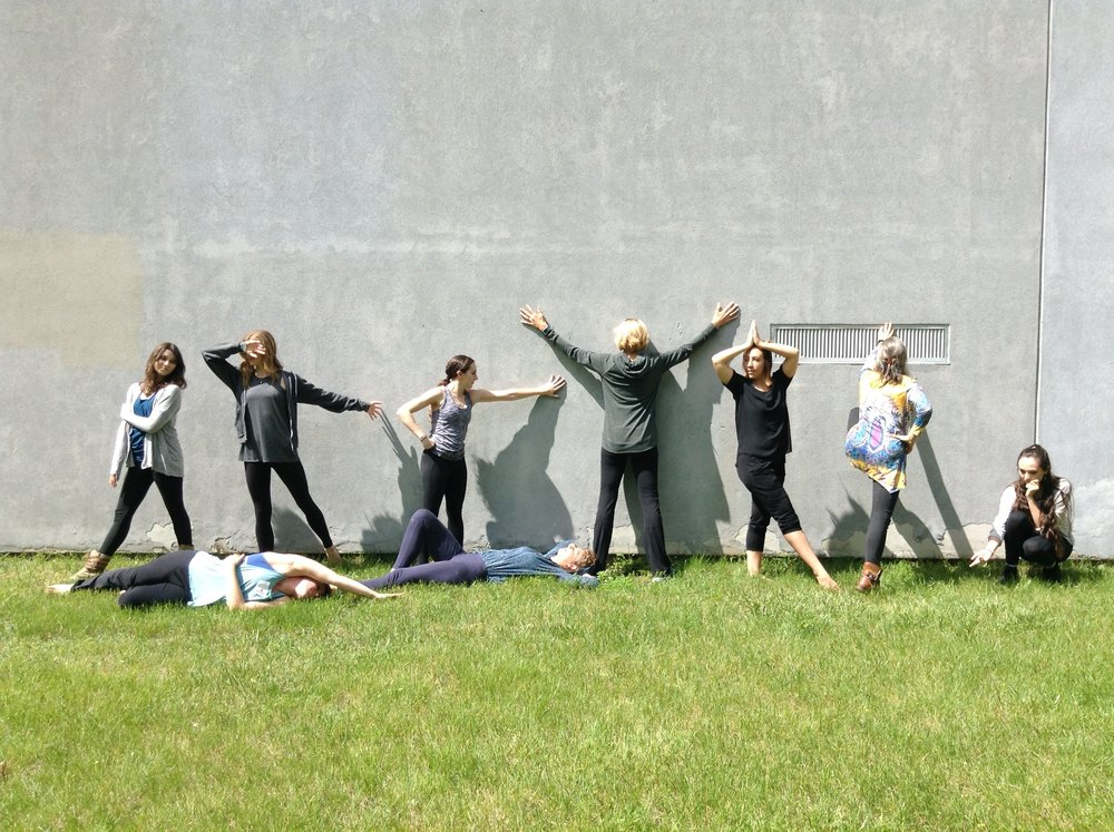 This is from an activity we did at the intensive. That's me in all black.