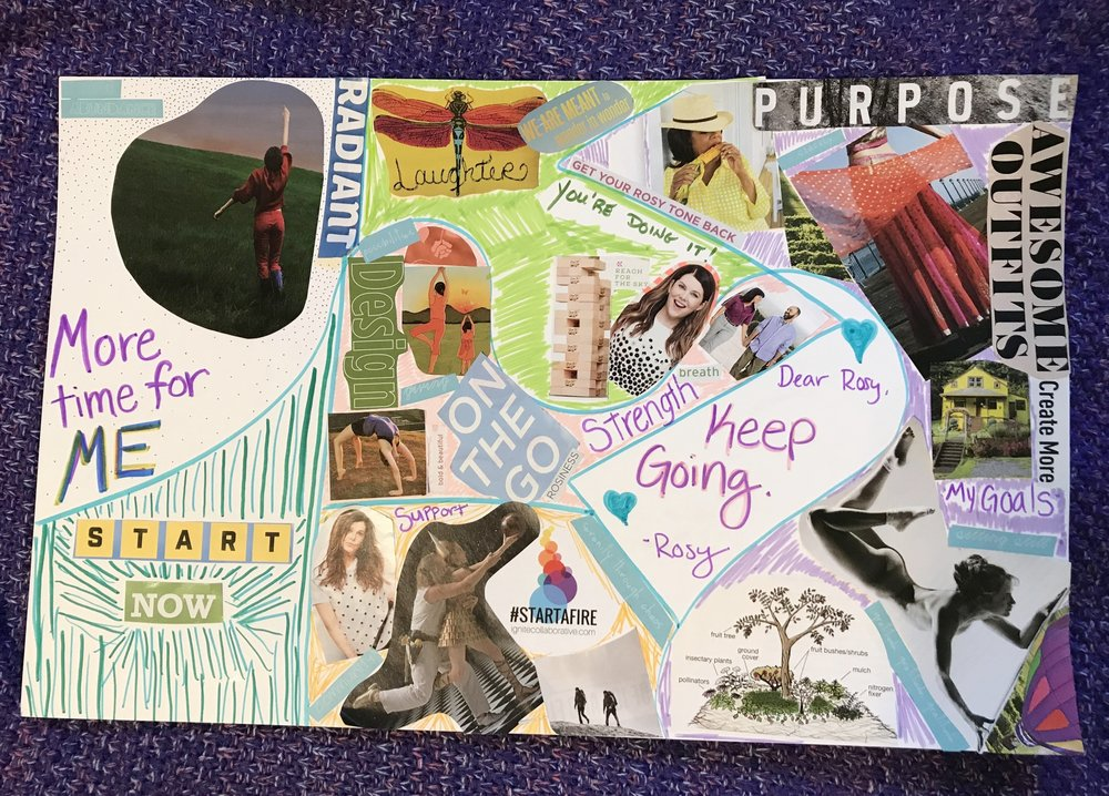 beautiful vision board that works