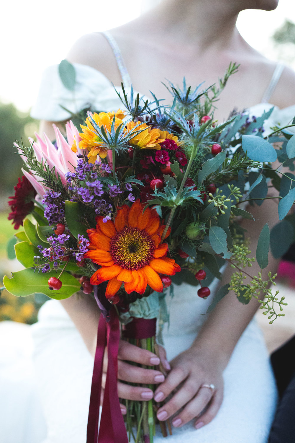wedding bouquet fall autumn colorful budget phoenix desert ideas