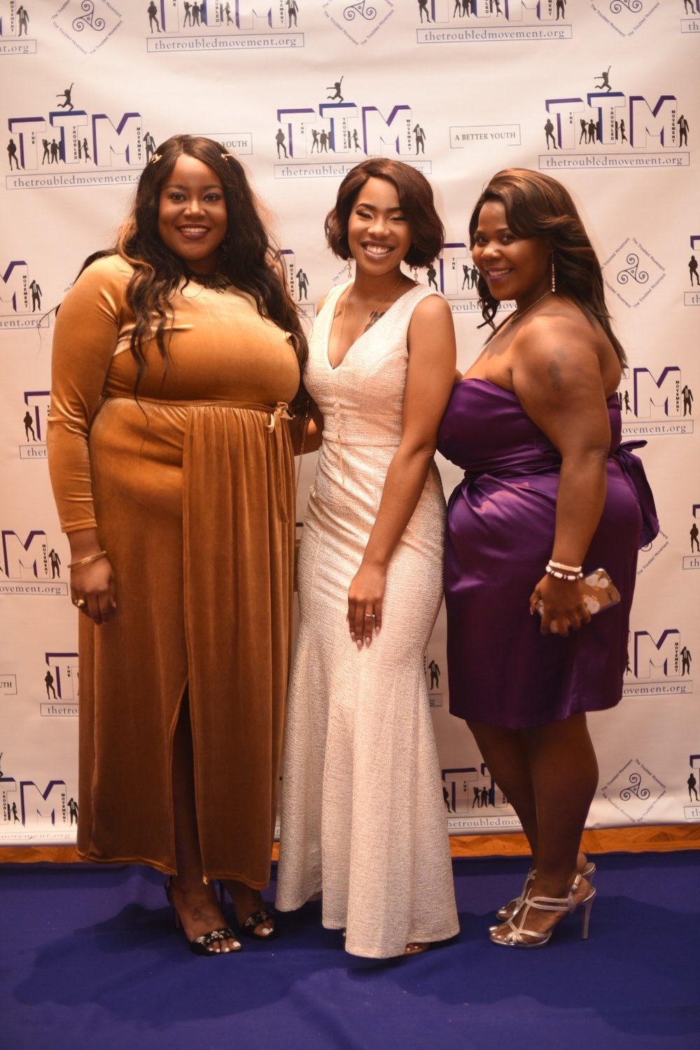 "Sisters of Survival & Strength rock the blue carpet at the 2018 annual ""Spring Into The Future"" Fundraising Gala."