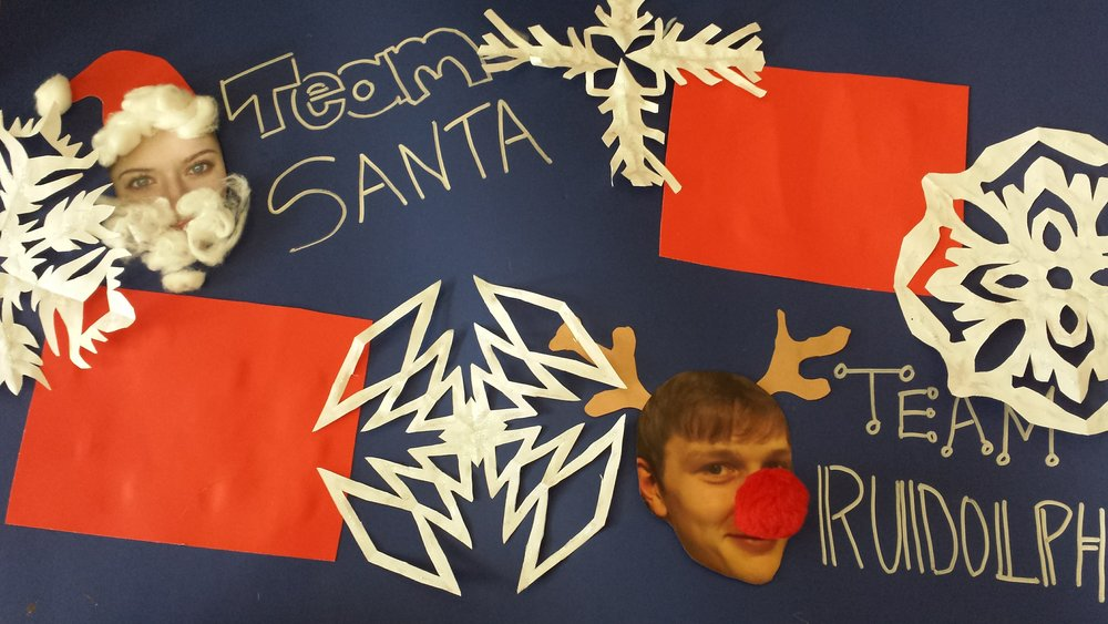 Liam and I's Christmas Practice Challenge! It's Team Santa vs. Team Rudolph - whose studio can earn the most practice and performance points?