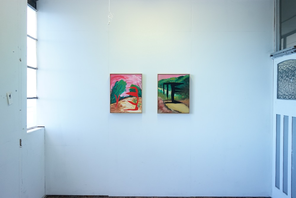 Installation view at Paradise Hills studio space.