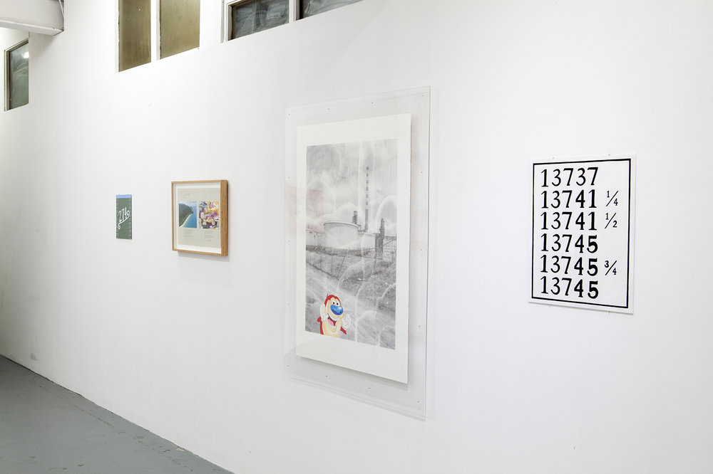 Installation shot featuring works by Darcey Bella Arnold  Photo courtesy LON Gallery