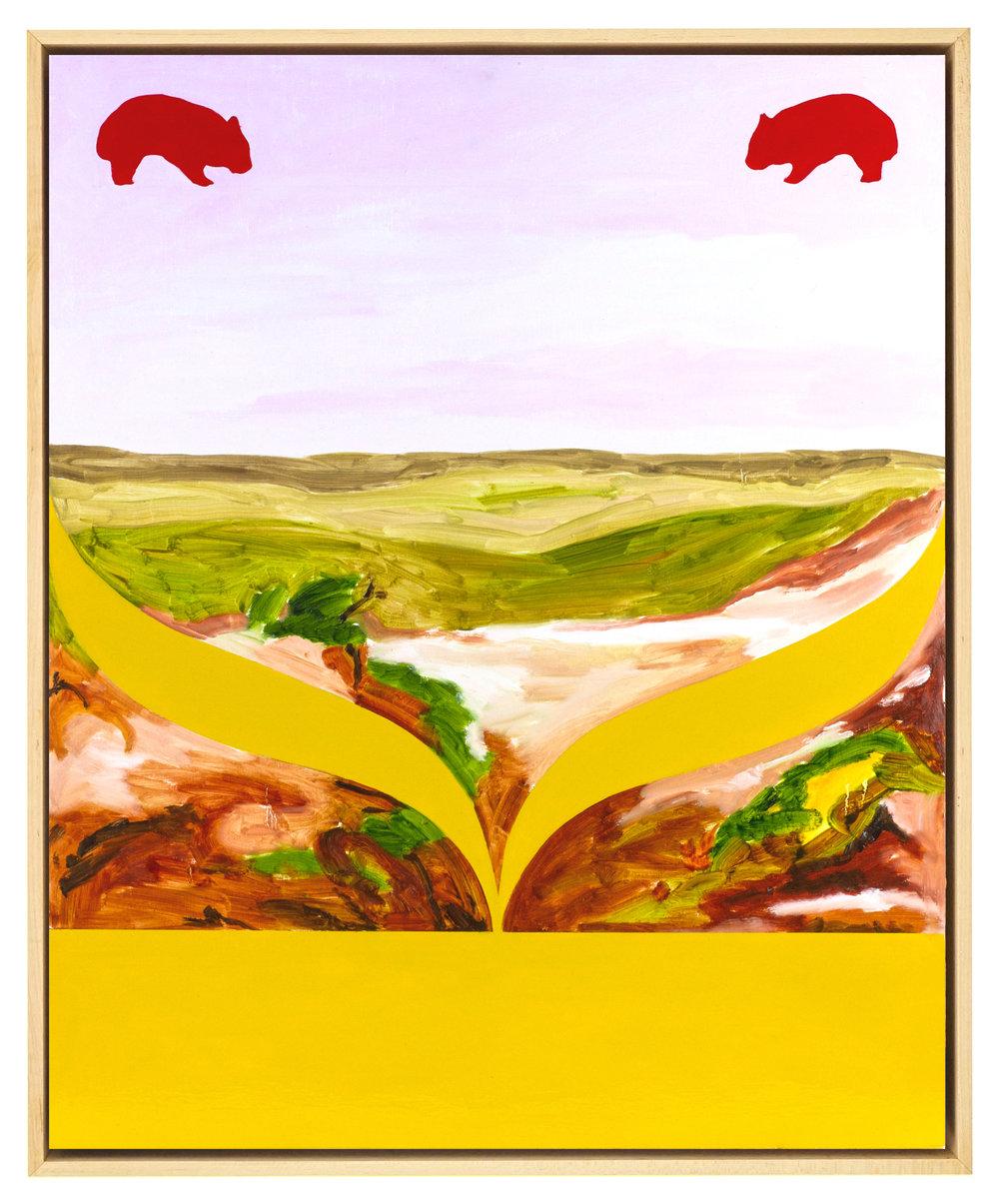 Untitled  2017  Oil, enamel and acrylic on plywood  60 x 75 cm