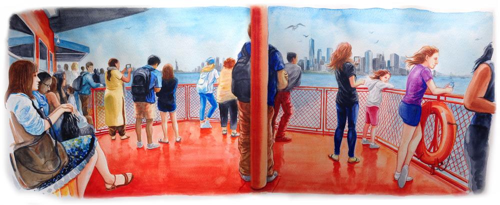 Leaving Manhattan by Staten Island Ferry