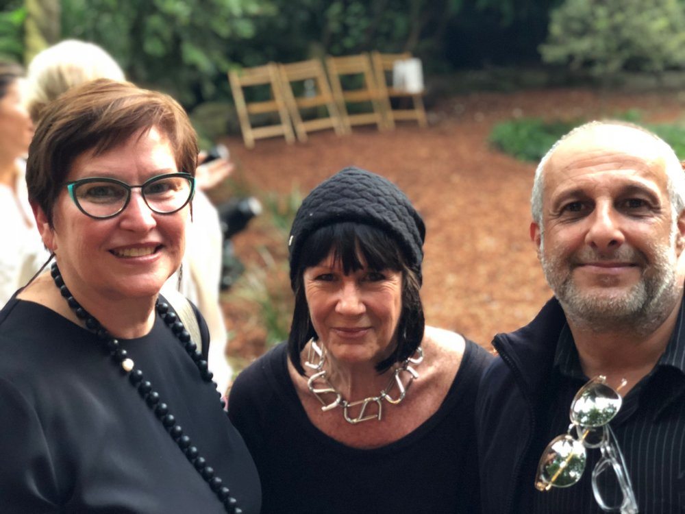 Sue Clothier (producer of WHITELEY), Jo Collard (Whiteley family friend and archivist), and Alec George (Coordinator of the Brett Whiteley Studio)