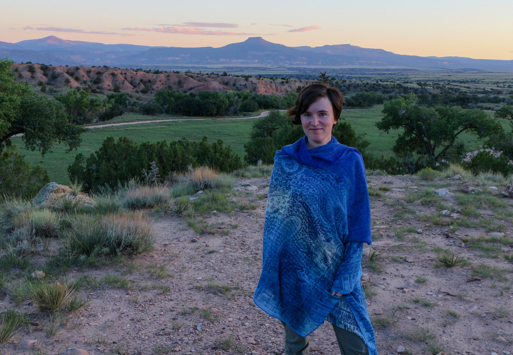 Nell Shaw Cohen at Ghost Ranch, New Mexico                                                                       Photo: Burt Cohen