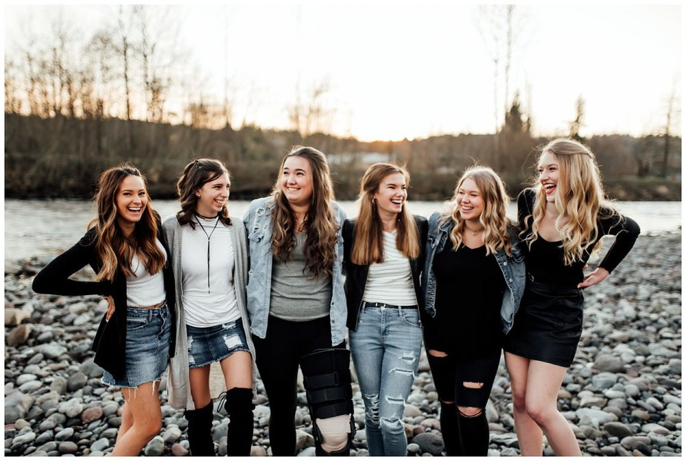Left to Right:  Chloe Marcella- Gov. John Rogers High School, Lindsey Busenbark- Tumwater High School, Ashley Buchholz- White River High School, Payton Schneider- Bellermine Preparatory High School, Taylor Miller- Franklin Pierce High School, Morgan McCurdy- Puyallup High School