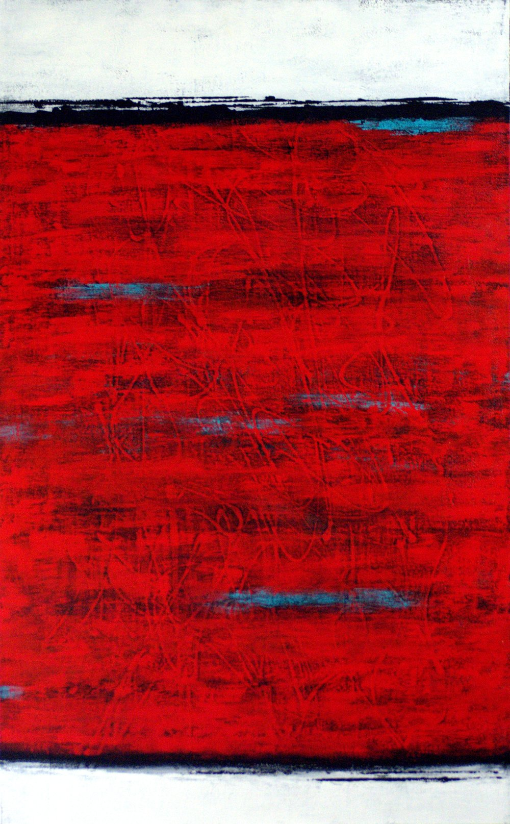 Red Between the Lines - SOLD