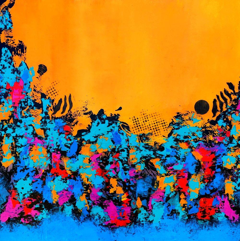Under the Caribbean Sun - SOLD Contact the Artist to create a similar custom piece