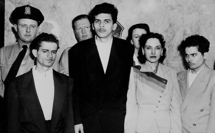 Lolita Lebron (right) led a group that included Rafael Cancel Miranda, Irving Flores and Andrés Figueroa Cordero in a failed attempt to assassinate U.S. President Harry Truman.