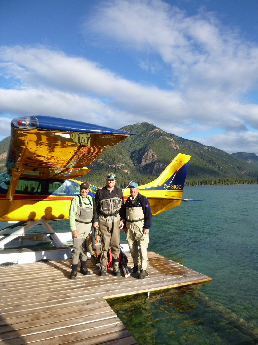 A group of fisherman prepared for their daily fly out
