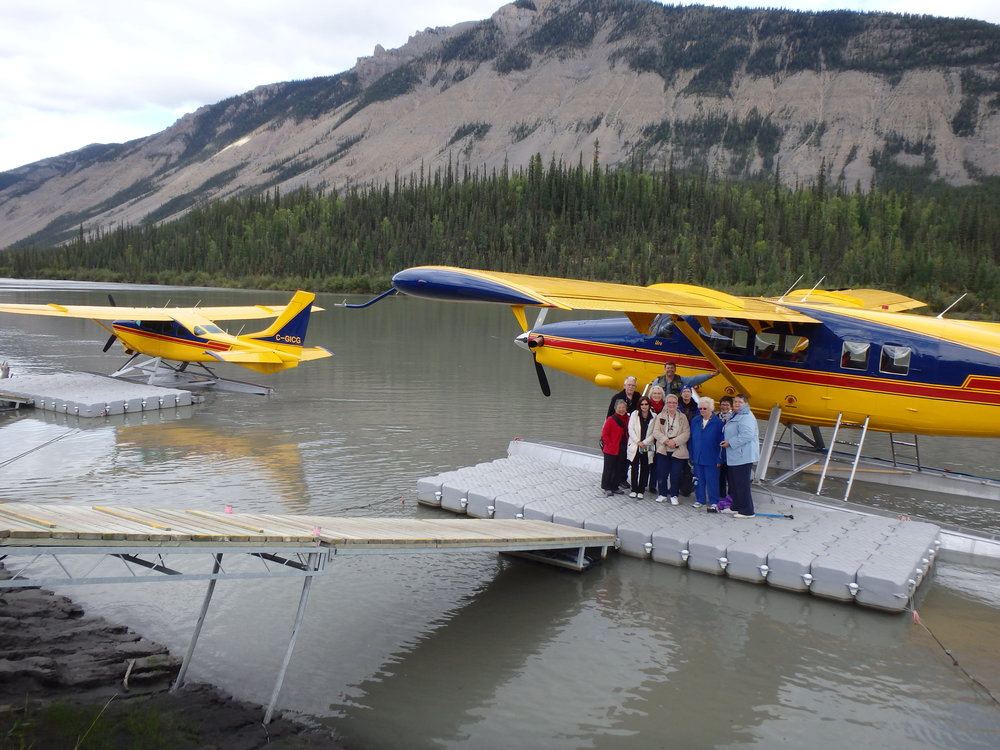 plane docking at nahanni