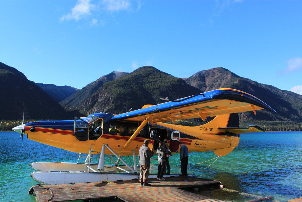 Loading our DHC-3T Otter on Muncho lake BC