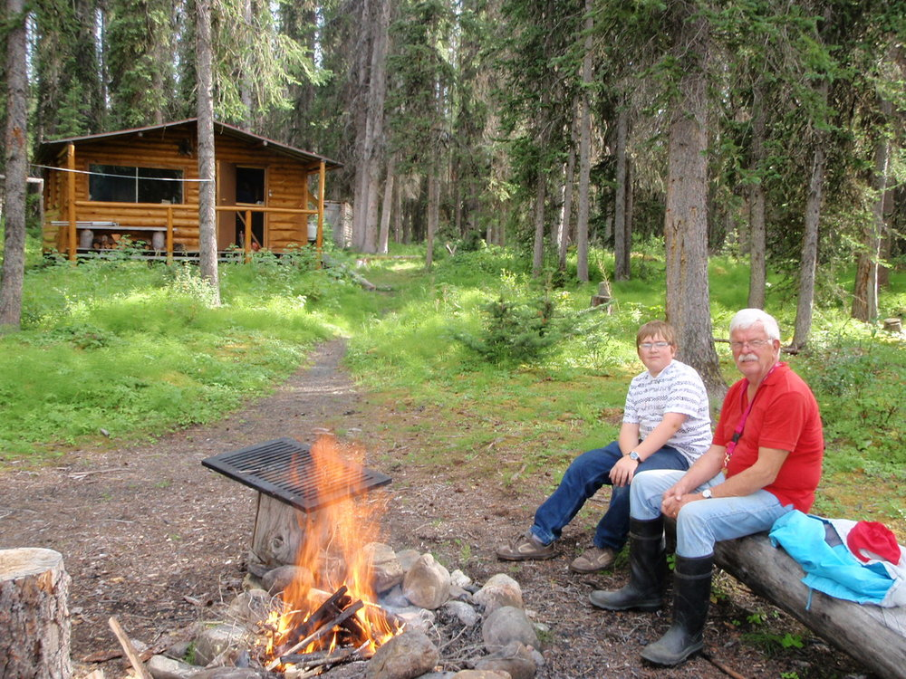 Copy of Campfire at Gataga outpost cabin