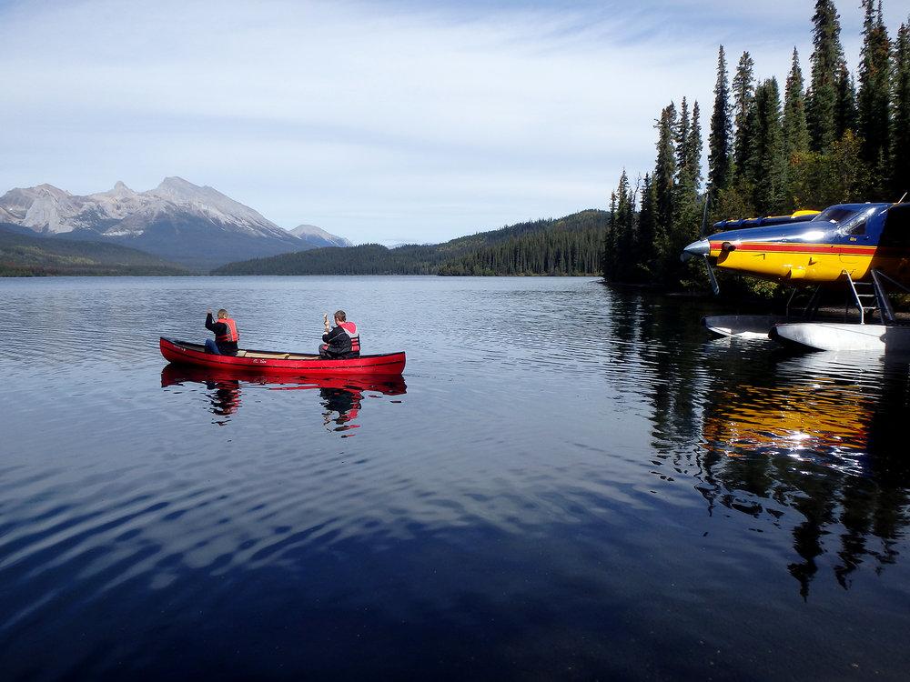 Canoeing Netson lake