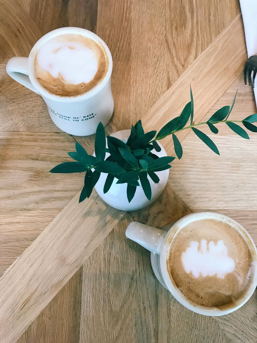 My friend and I started off our time at Magnolia Table with lavender lattes.