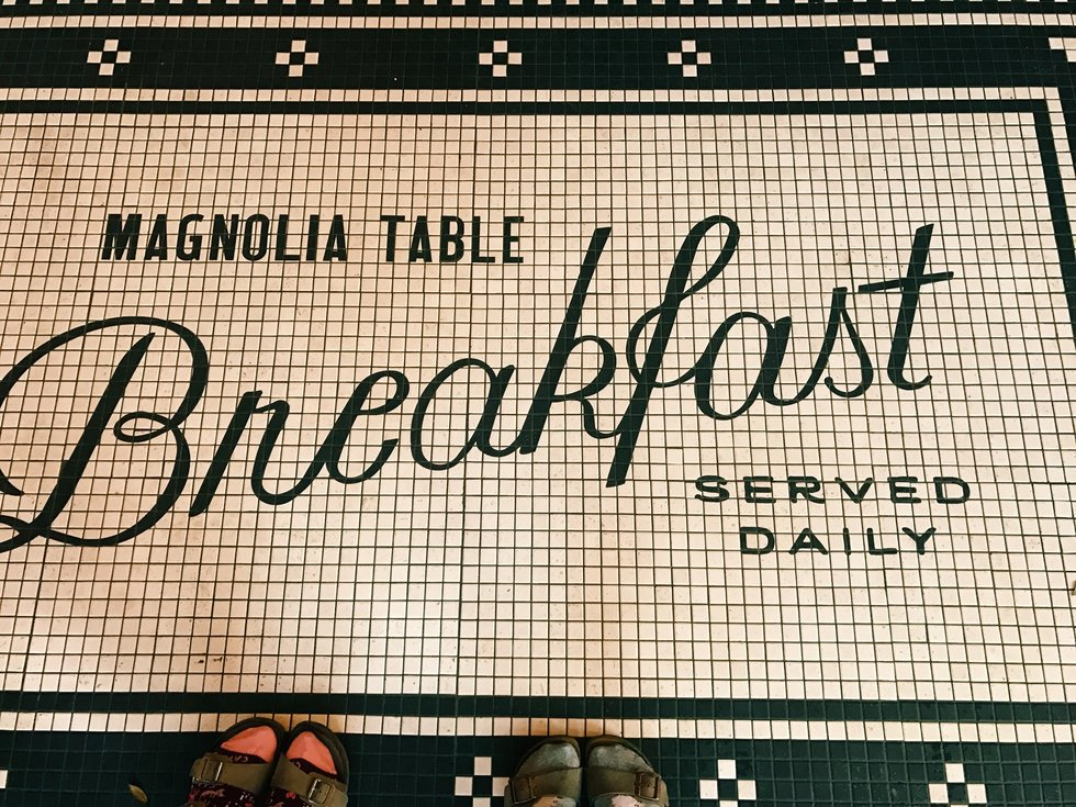 Magnolia Table serves all-day breakfast, along with sandwiches and soups for lunch and a variety of desserts.
