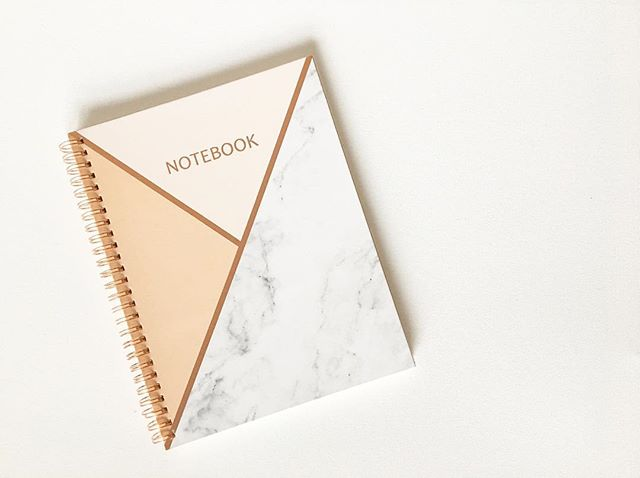 New week = Fresh notebook 💕
