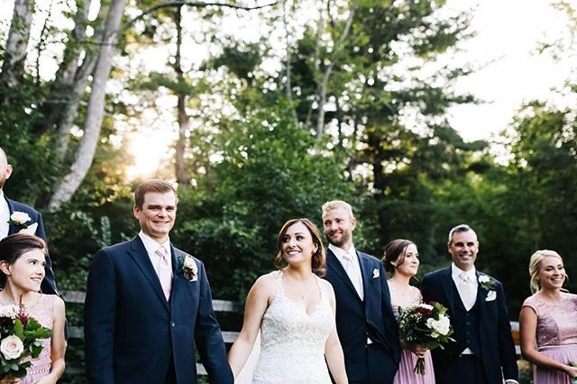 All smiles after tying the knot! Congratulations Jordan + Jonathan✨💕 📷 @chantellewattphoto